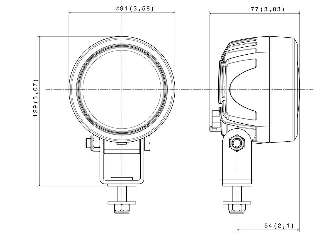 work light compact led 12  24v
