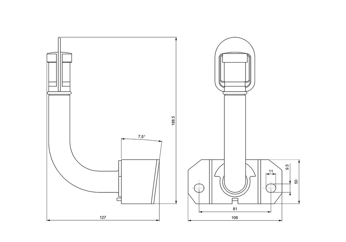 360 u00b0 rotating socket - iso 4148  4165