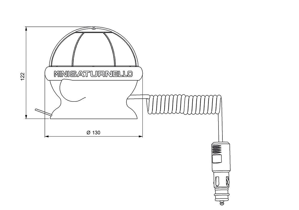 Mini Saturnello Led Beacon Magnetic 1 Suction Pad Flash